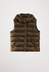Massimo Dutti - STEPPWESTE MIT KAPUZE 02701700 - Smanicato - brown - 0