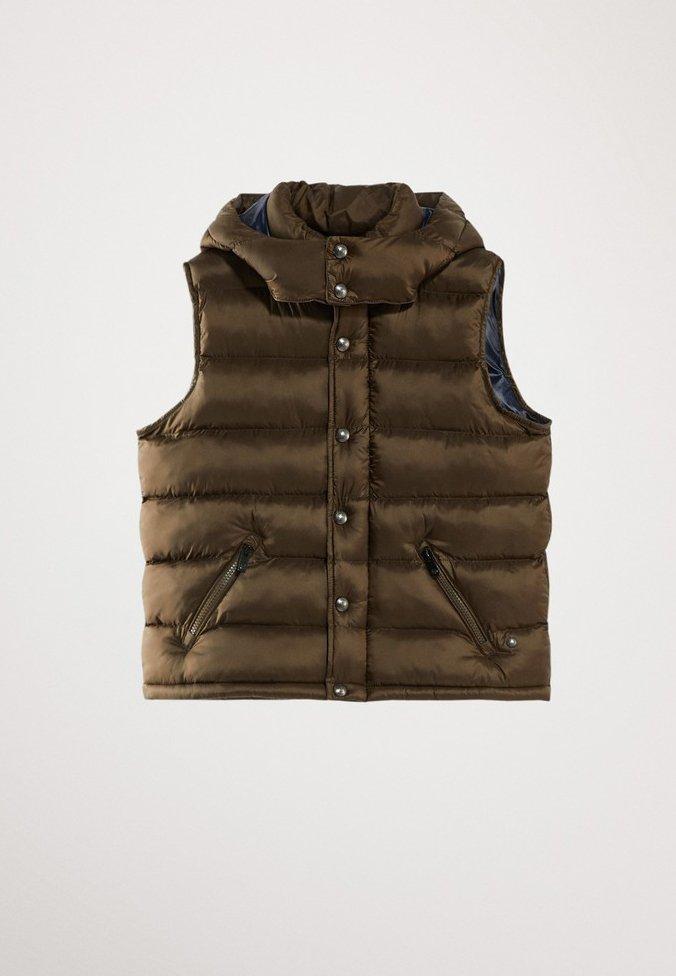 Massimo Dutti - STEPPWESTE MIT KAPUZE 02701700 - Smanicato - brown