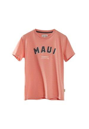 MAUI - Print T-shirt - coral