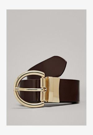 DOUBLE-FACED LEATHER BELT 06109615 - Riem - bordeaux