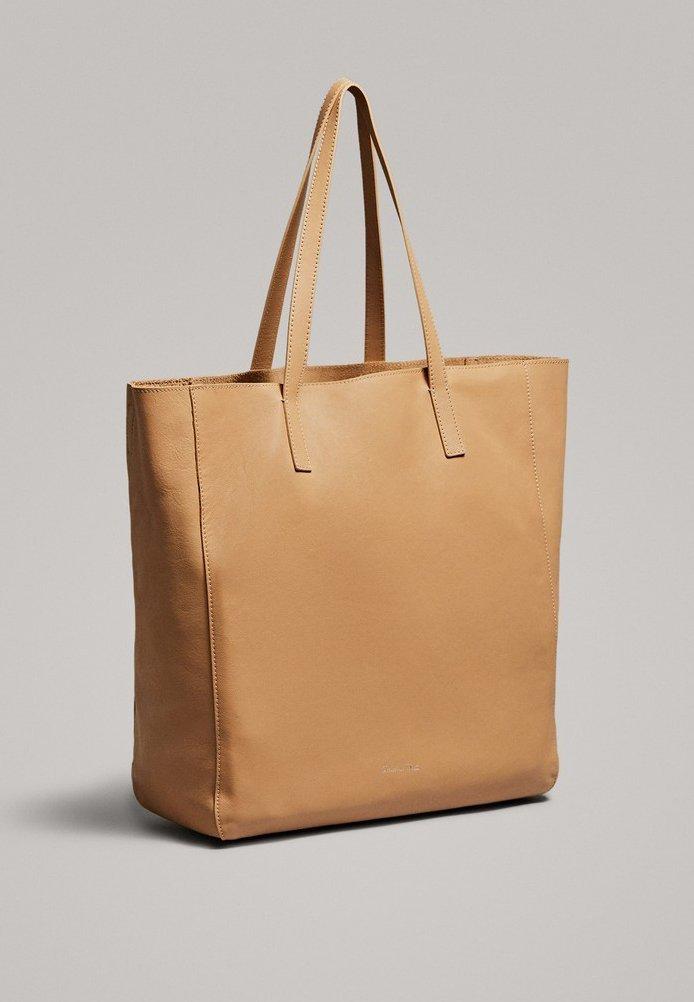 Massimo Dutti Zweifarbige - Shopping Bag Beige gYAjq