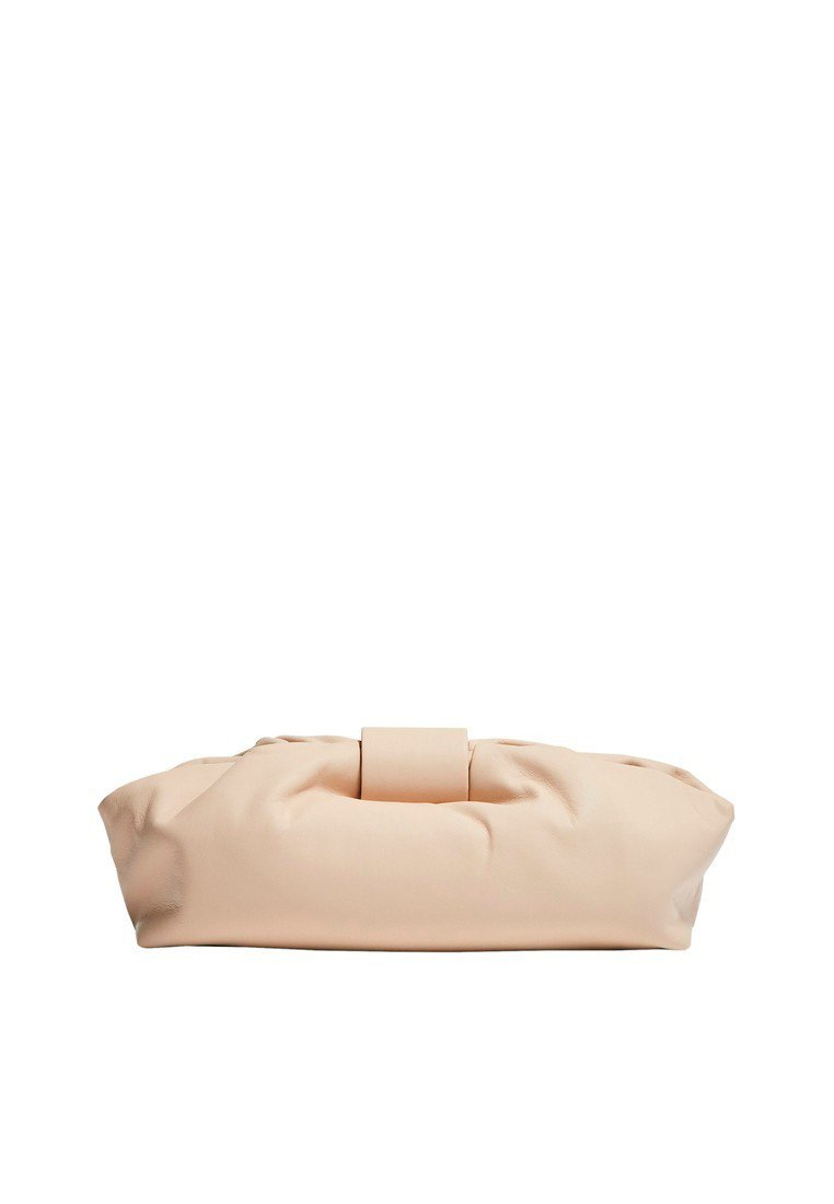 Massimo Dutti - MIT METALLDETAILS LIMITED EDITION  - Clutch - beige