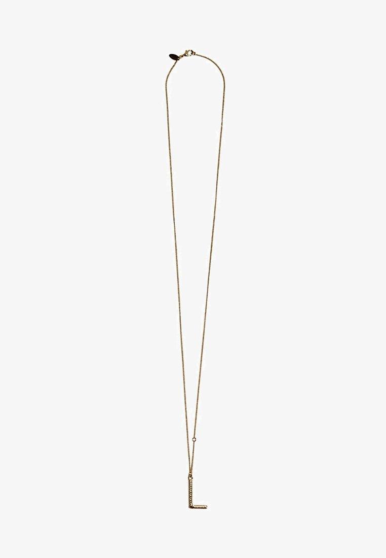 Massimo Dutti - MIT BUCHSTABE L  - Halskette - gold-coloured