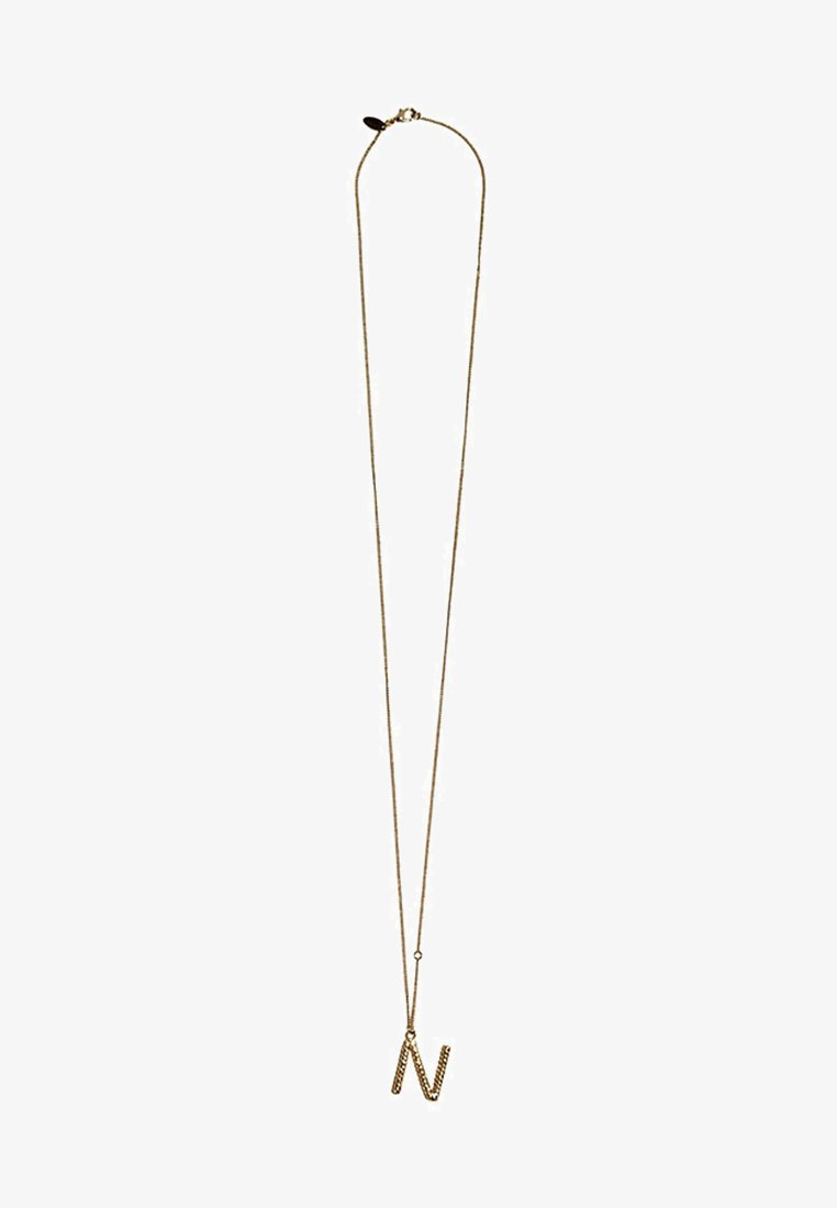 Massimo Dutti - MIT BUCHSTABE N  - Necklace - gold-coloured