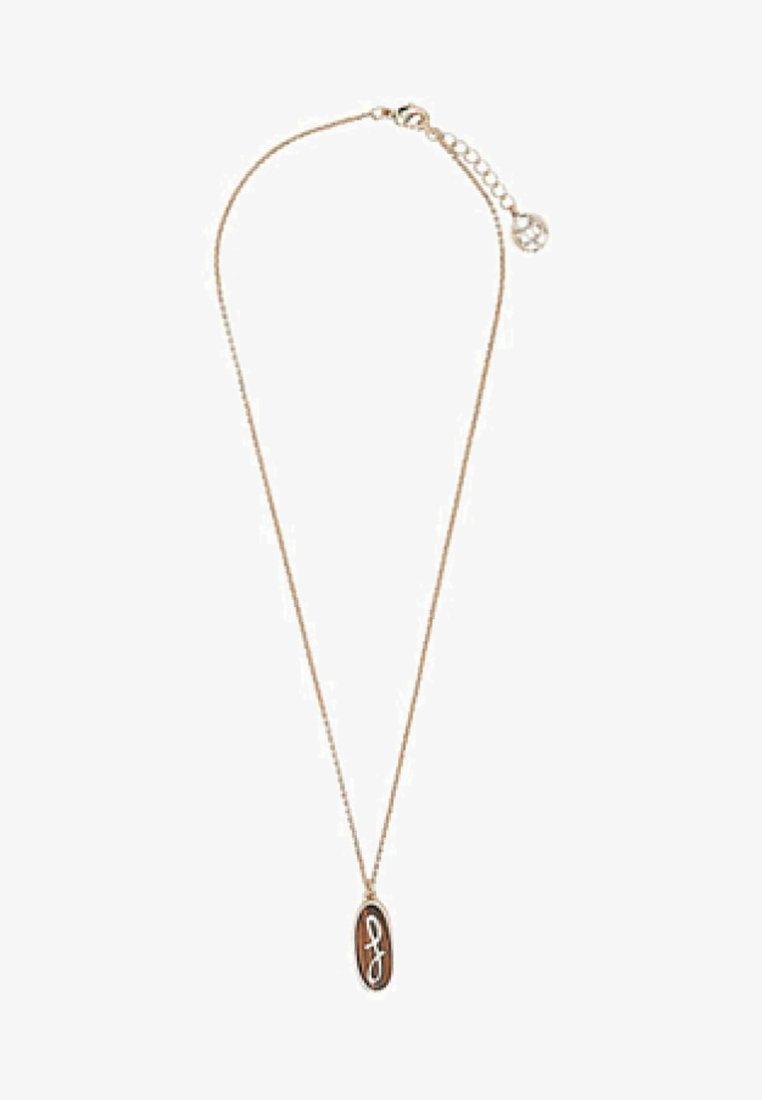 Massimo Dutti - MIT STEIN UND BUCHSTABE  - Necklace - brown