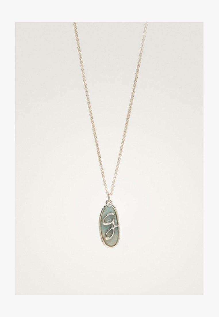 Massimo Dutti - MIT STEIN UND BUCHSTABE - Necklace - green