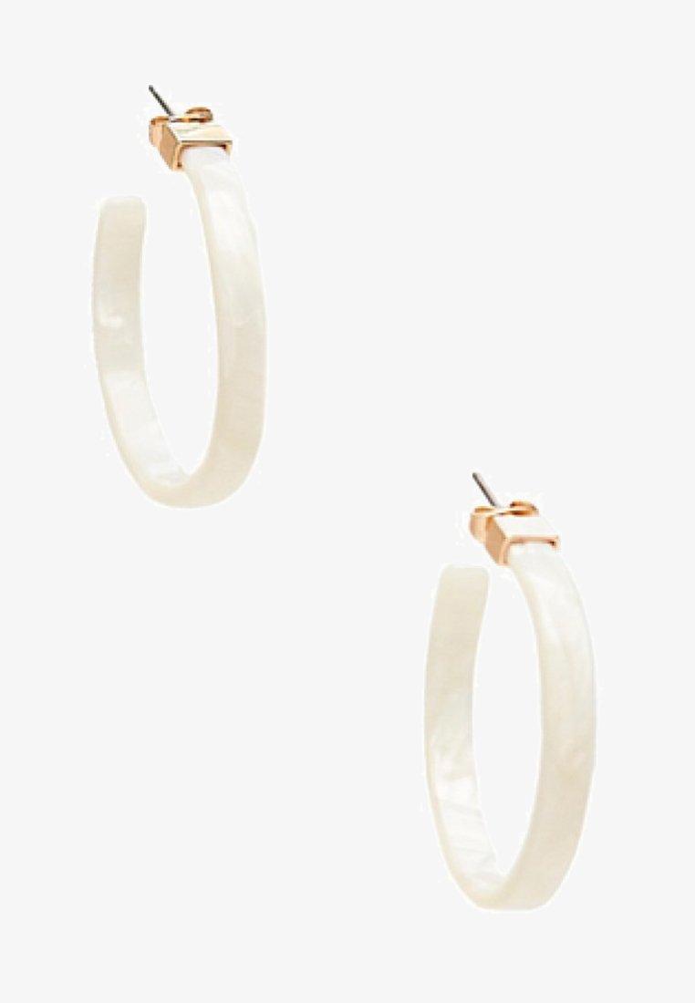 Massimo Dutti - Earrings - white