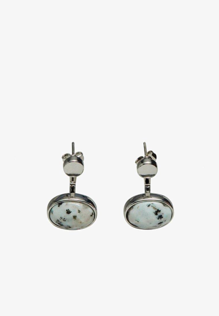 Massimo Dutti - MIT OVALEM SCHMUCKSTEIN  - Oorbellen - turquoise