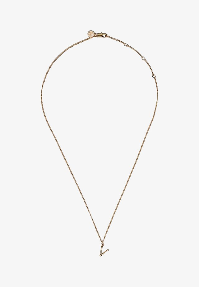 MIT BUCHSTABE V - Necklace - gold-coloured