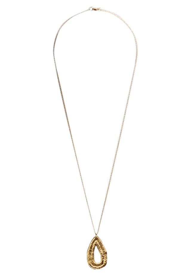 MIT TROPFENANHÄNGER - Halsband - gold