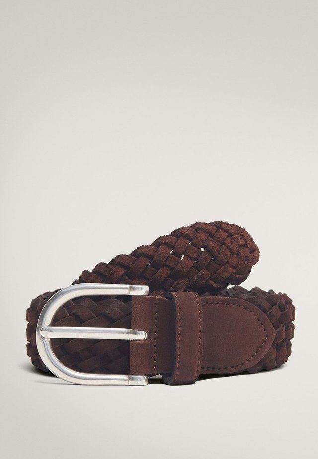 Braided belt - brown