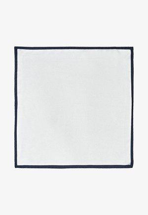 MIT SEITLICHEM KONTRAST - Lommetørklæde - white
