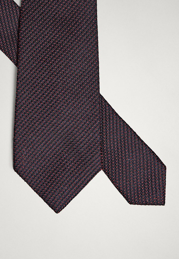 Massimo Dutti Zweifarbige Krawatte Aus Reiner Seide 01275353 - Slips Red