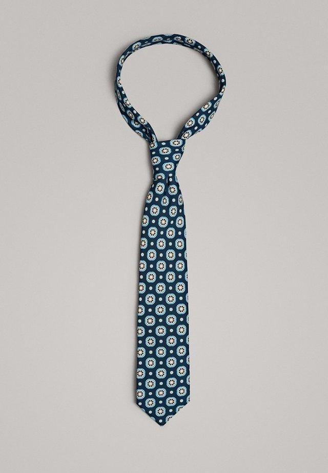 KRAWATTE AUS REINER SEIDE MIT BLUMENPRINT 01277355 - Cravatta - blue