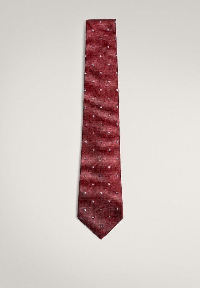 Cravate - bordeaux