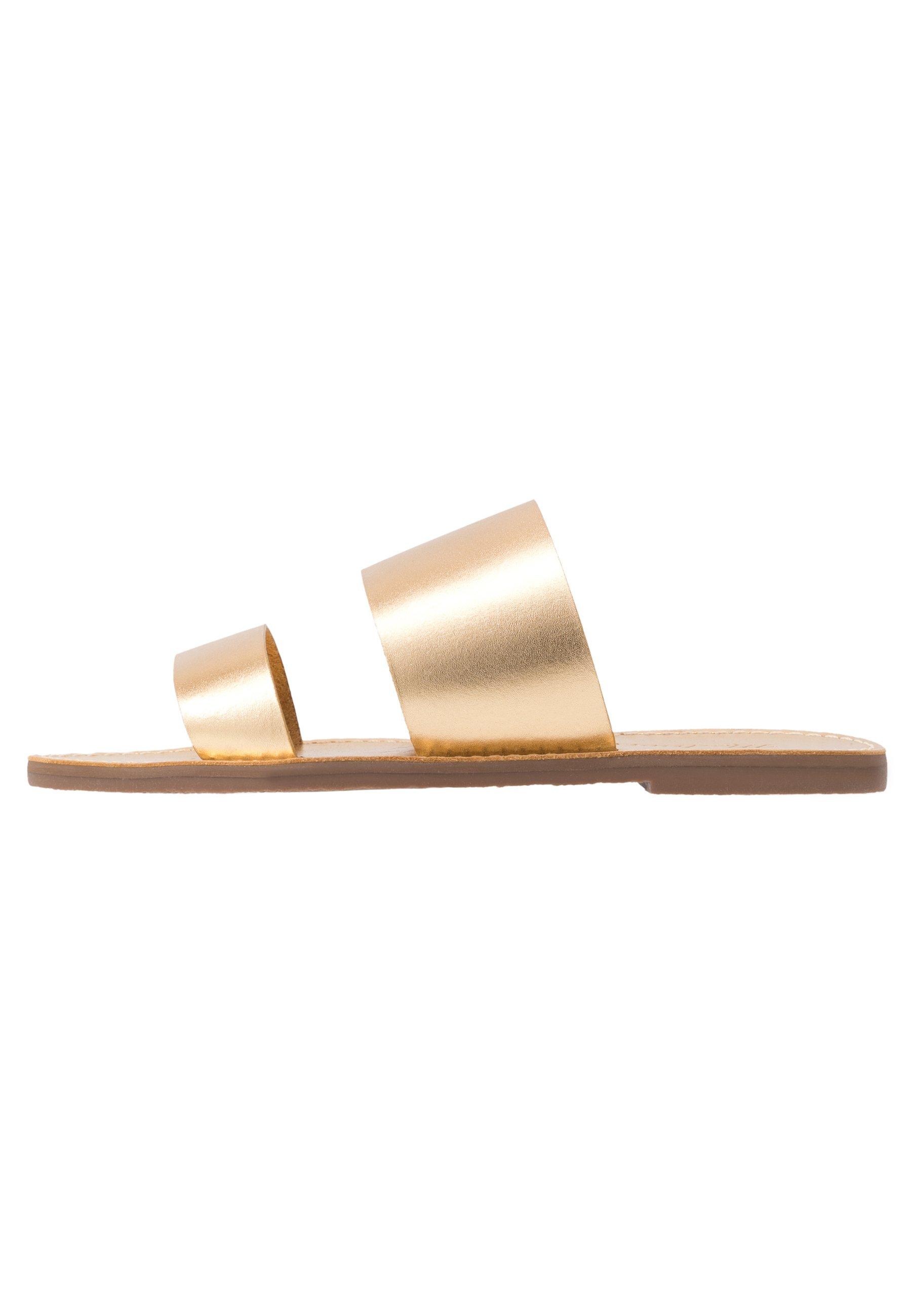 Madewell BOARDWALK - Ciabattine - gold jb8LikQQ