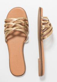 Madewell - TRACIE CRISS CROSS  - Pantofle - gold - 1