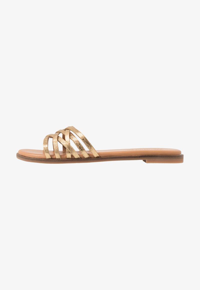 Madewell - TRACIE CRISS CROSS  - Pantofle - gold
