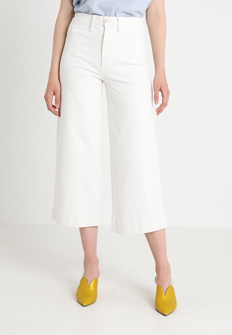Madewell - WIDE LEG CROP - Flared Jeans - tile white