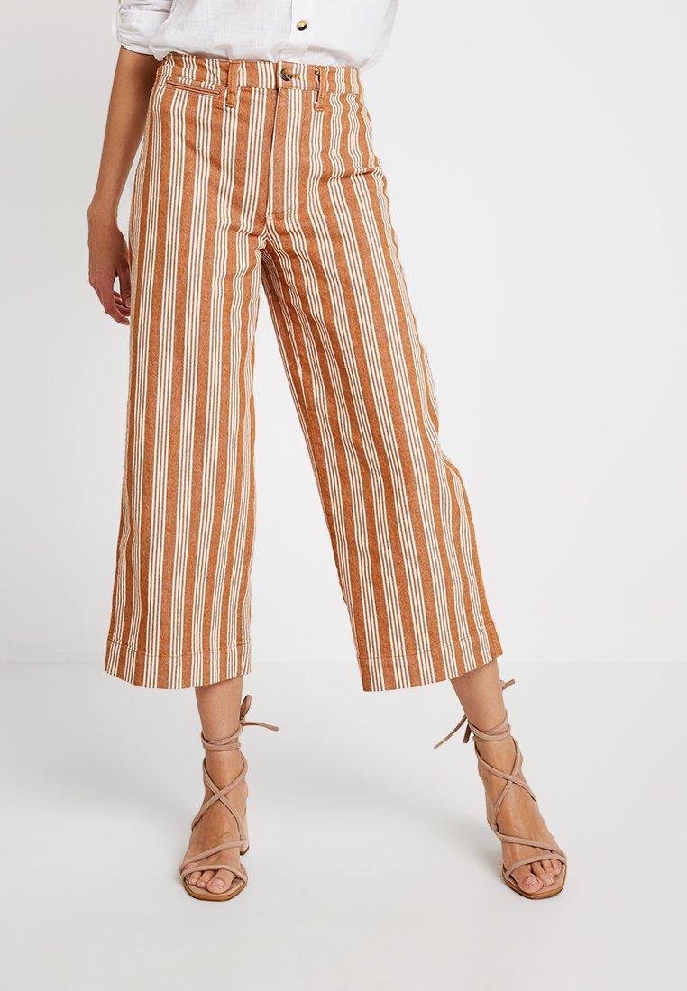 Madewell - EMMETT BOLD STRIPE - Trousers - katherine golden pecan