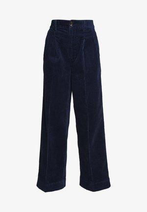 PLEATED WIDE LEG - Trousers - dark nightfall