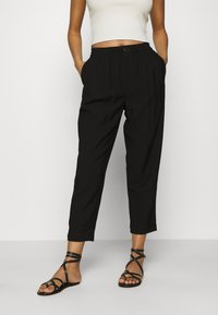 Madewell - DRAPEY TRACK TROUSER - Trousers - true black - 0