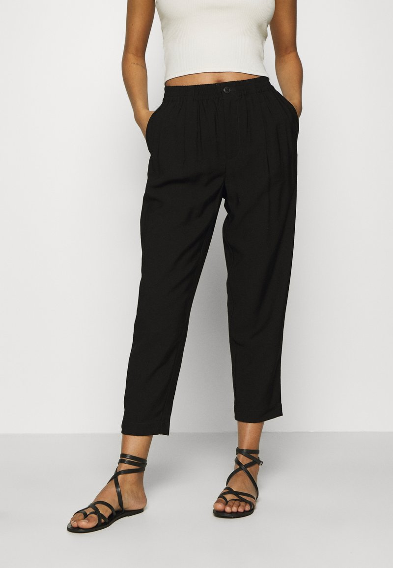 Madewell - DRAPEY TRACK TROUSER - Trousers - true black