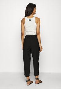 Madewell - DRAPEY TRACK TROUSER - Trousers - true black - 2