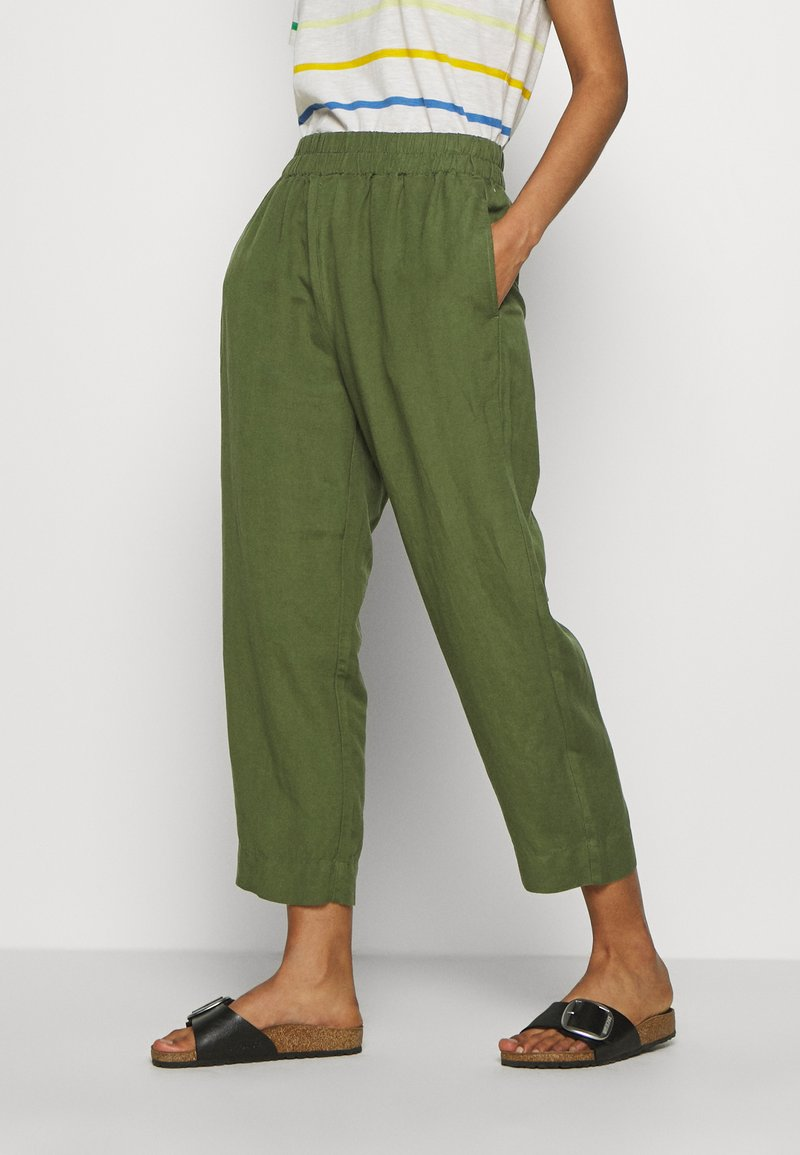 Madewell - HUSTON IN SOLID - Trousers - palm tree