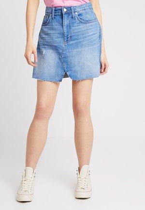 CUTOUT RECONSTRUCTED SKIRT - A-snit nederdel/ A-formede nederdele - blue denim
