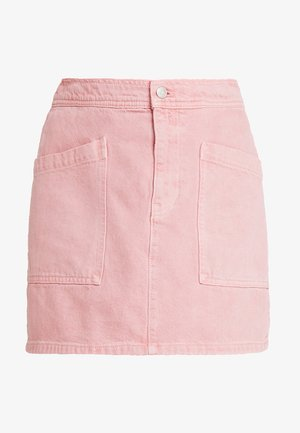 INITIAL RIGID STRAIGHT SKIRT - Denim skirt - dusty rose