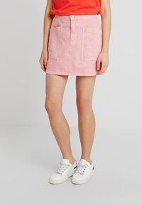Madewell - INITIAL RIGID STRAIGHT SKIRT - Denim skirt - dusty rose - 0