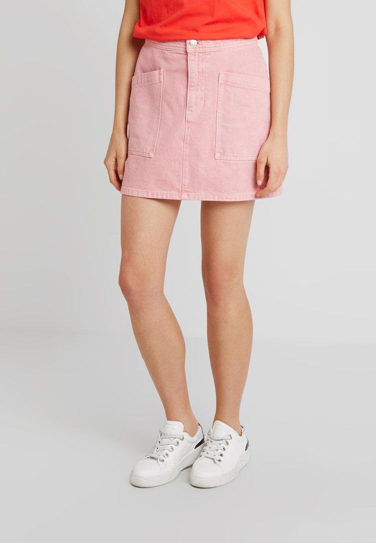 Madewell - INITIAL RIGID STRAIGHT SKIRT - Denim skirt - dusty rose