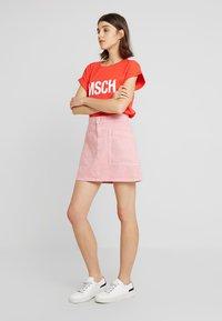 Madewell - INITIAL RIGID STRAIGHT SKIRT - Denim skirt - dusty rose - 1