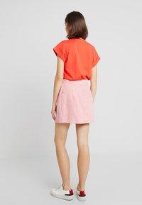 Madewell - INITIAL RIGID STRAIGHT SKIRT - Denim skirt - dusty rose - 2