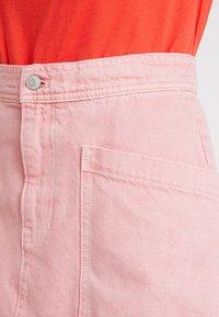 Madewell - INITIAL RIGID STRAIGHT SKIRT - Denim skirt - dusty rose - 4