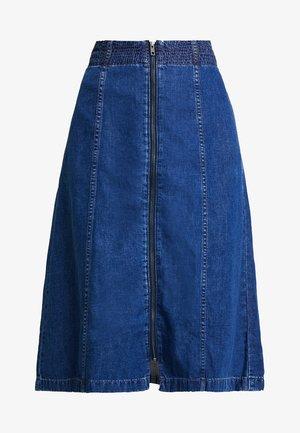 ZIP FRONT MIDI SKIRT - A-line skirt - farley wash