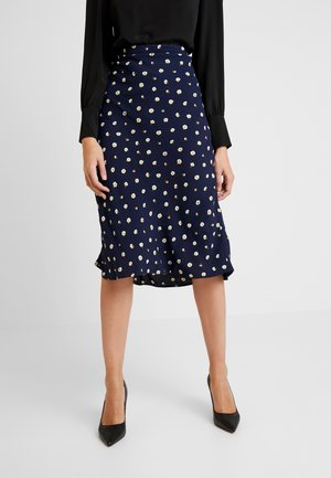 PULL ON MIDI SKIRT IN DAISY - Pouzdrová sukně - dark nightfall