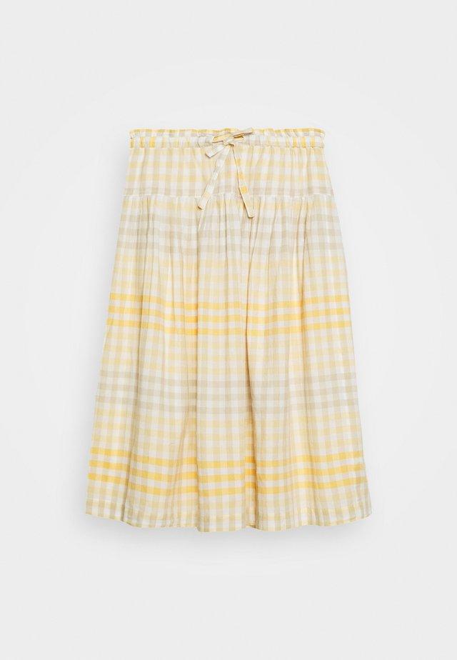 PAPER BAG MIDI SKIRT - Áčková sukně - gingham ombre pollen