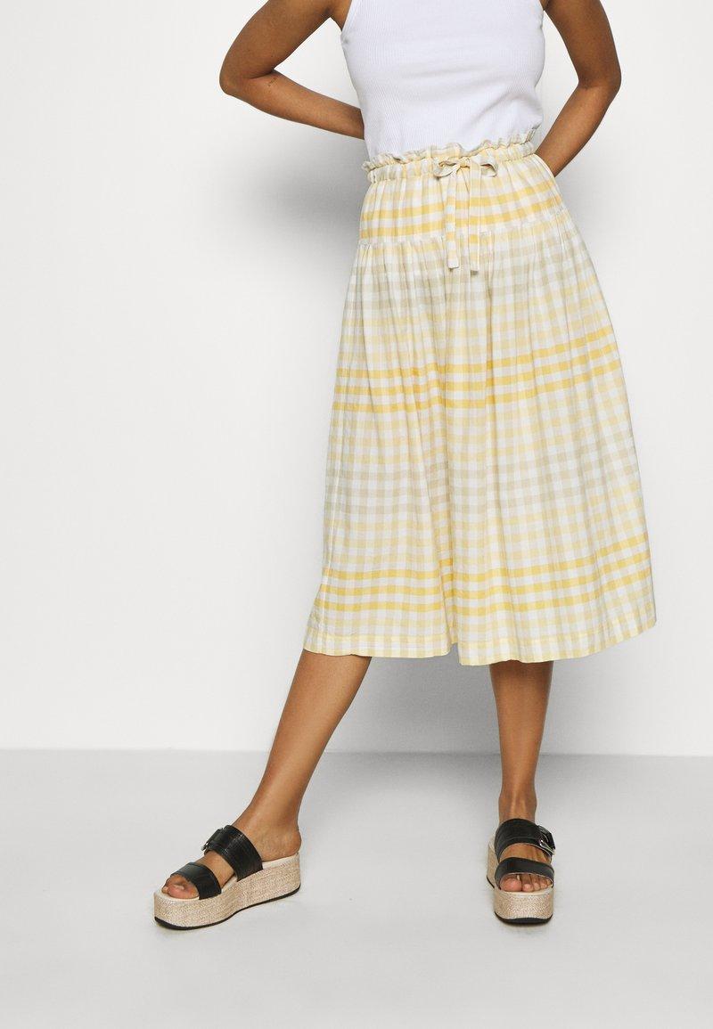 Madewell - PAPER BAG MIDI SKIRT - A-line skirt - ombre pollen