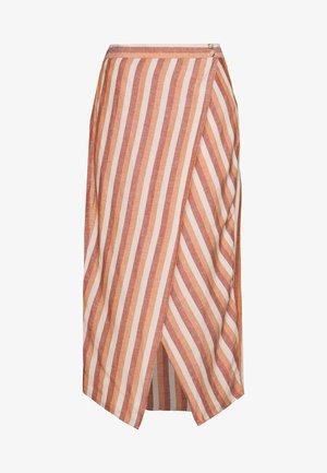 OVERLAY MIDI SKIRT IN STRIPE - A-line skirt - pink/white