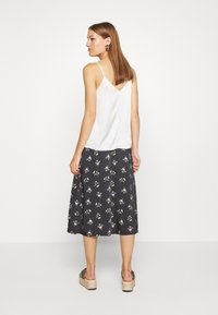 Madewell - SIDE BUTTON MIDI SKIRT IN GENGY FLORAL - A-line skirt - true black - 2