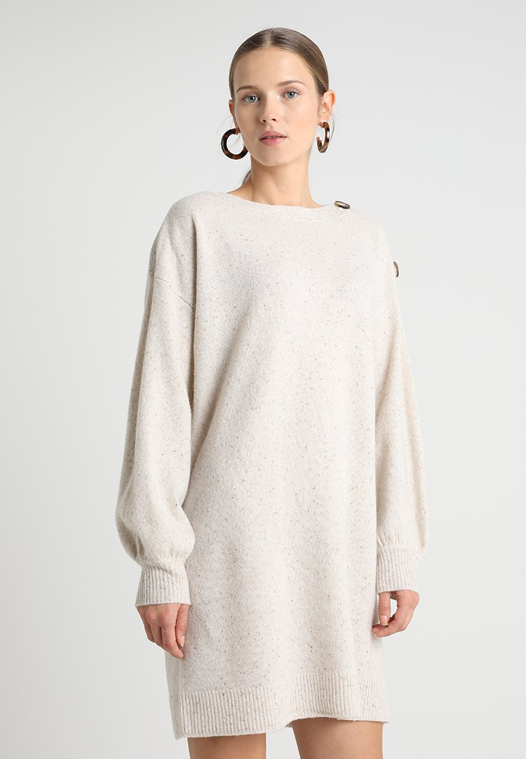 Madewell - BUTTON BOAT NECK SWEATERDRESS - Jumper dress - donegal snowhill