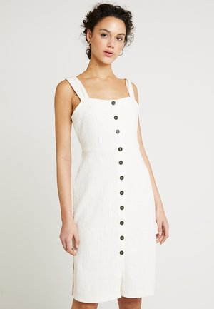 TEXTURE THREAD KIKO DRESS - Abito a camicia - pale parchment