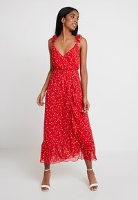 Madewell - RUFFLE STRAP WRAP TIER DRESS - Maxi dress - prairie enamel red - 1