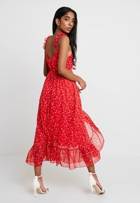 Madewell - RUFFLE STRAP WRAP TIER DRESS - Maxi dress - prairie enamel red - 2
