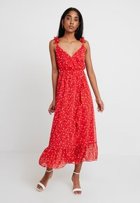 Madewell - RUFFLE STRAP WRAP TIER DRESS - Maxi dress - prairie enamel red - 0