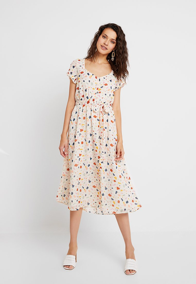 Madewell - TIE WAIST DRESS - Maxikleid - antique