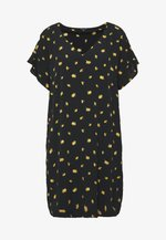 RUFFLE SLEEVE EASY DRESS IN - Robe d'été - marguerite daisy/true black