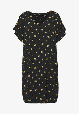 RUFFLE SLEEVE EASY DRESS IN - Day dress - marguerite daisy/true black
